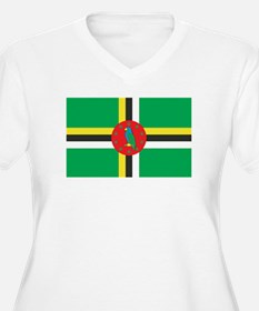 DOMINICA Womes Plus-Size V-Neck T-Shirt