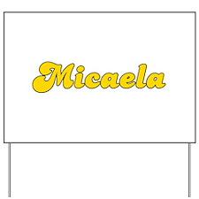 Retro Micaela (Gold) Yard Sign