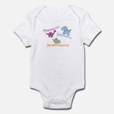 Mom, Dad, & Jaydenosaurus Infant Bodysuit