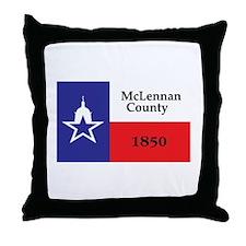 MCLENNAN-COUNTY Throw Pillow