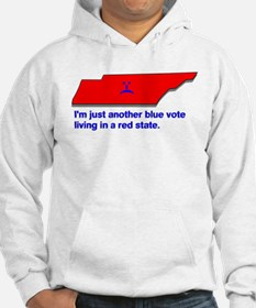 Blue Vote in a Red State Hoodie