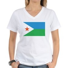 DJIBOUTI Womens V-Neck T-Shirt