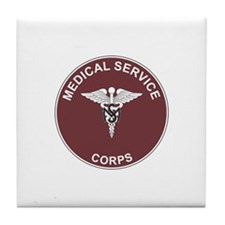 MEDICAL-SERVICE-CORPS Tile Coaster