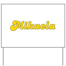 Retro Mikaela (Gold) Yard Sign