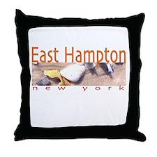 Driftwood Beach East Hampton Throw Pillow