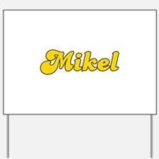 Retro Mikel (Gold) Yard Sign