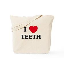 I Love Teeth Tote Bag
