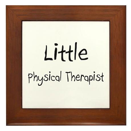 Little Physical Therapist Framed Tile