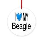 I Love My Beagle Keepsake (Round)