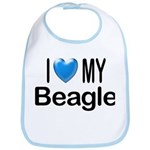I Love My Beagle Bib