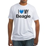 I Love My Beagle Fitted T-Shirt