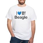I Love My Beagle White T-Shirt