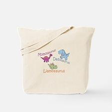 Mom, Dad, & Liamosaurus Tote Bag