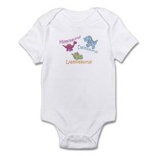 Mom, Dad, & Liamosaurus Infant Bodysuit