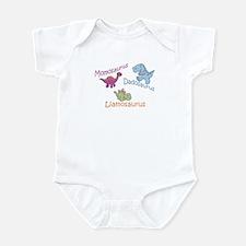 Mom, Dad, & Liamosaurus Infant Bodysuit