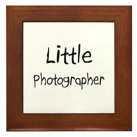 Little Photographer Framed Tile