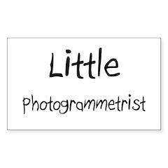 Little Photogrammetrist Rectangle Decal