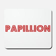 Retro Papillion (Red) Mousepad