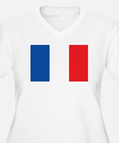 FRANCE Womes Plus-Size V-Neck T-Shirt