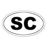SC (South Carolina) Oval Sticker