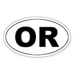 OR (Oregon) Oval Sticker