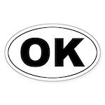 OK (Oklahoma) Oval Sticker