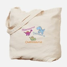 Mom, Dad, & Owenosaurus Tote Bag