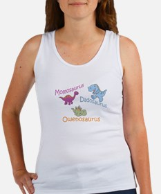 Mom, Dad, & Owenosaurus Women's Tank Top