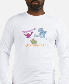 Mom, Dad, & Owenosaurus Long Sleeve T-Shirt