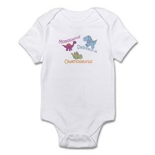 Mom, Dad, & Owenosaurus Infant Bodysuit