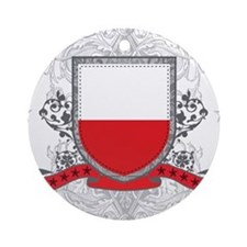 Poland Shield Ornament (Round)