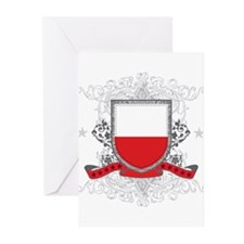 Poland Shield Greeting Cards (Pk of 20)