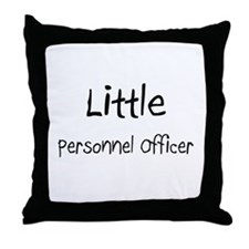 Little Personnel Officer Throw Pillow