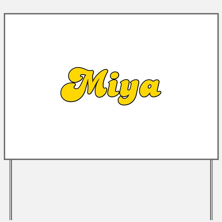 Retro Miya (Gold) Yard Sign