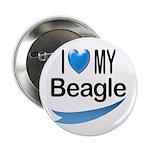 I Love My Beagle Button