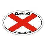 Alabama (AL) Oval Sticker