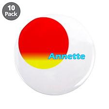 "Annette 3.5"" Button (10 pack)"