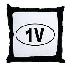 1V Throw Pillow