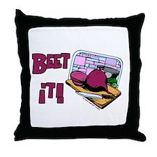 Beet It Throw Pillow