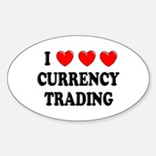 Currency Trading Oval Decal