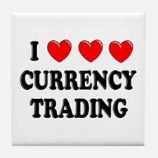 Currency Trading Tile Coaster