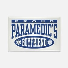 Proud Paramedic's Boyfriend Rectangle Magnet