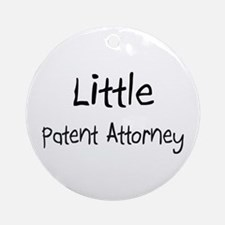 Little Patent Attorney Ornament (Round)