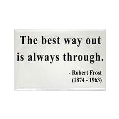 Robert Frost 16 Rectangle Magnet