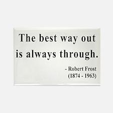 Robert Frost 16 Rectangle Magnet