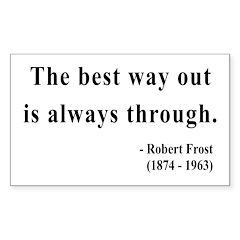 Robert Frost 16 Rectangle Decal