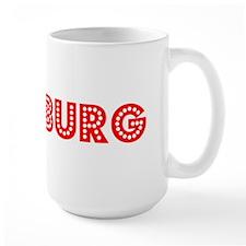 Retro Pittsburg (Red) Mug
