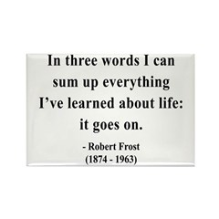Robert Frost 15 Rectangle Magnet
