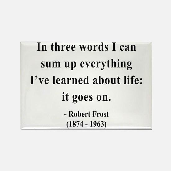 Robert Frost 15 Rectangle Magnet