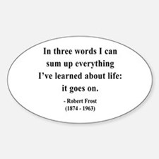 Robert Frost 15 Oval Decal